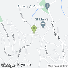 Map of Dilan Kebab House in Brymbo, Wrexham, clwyd