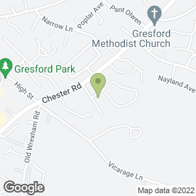 Map of Stewart Rawson Electrical in Gresford, Wrexham, clwyd