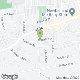 Map of Love & Bride in Crewe, cheshire