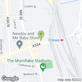 Map of Royal Hotel in Crewe, cheshire