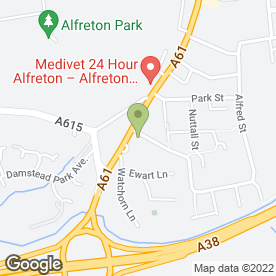 Map of Alan Warne Building Services in Alfreton, derbyshire