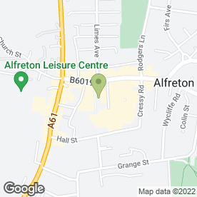 Map of Specsavers Hearing Centres in Alfreton, derbyshire