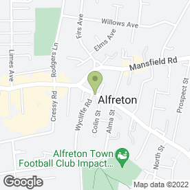 Map of Diamond City Take Away Alfreton in Alfreton, derbyshire