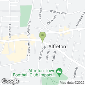 Map of FLOWERS BY MARCUS INTERFLORA in Alfreton, derbyshire