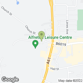 Map of The Alfreton Dental Practice in Alfreton, derbyshire