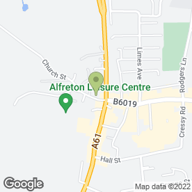 Map of RICKARDS & CLEAVER in Alfreton, derbyshire