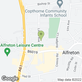 Map of Glendair Dental Practice Ltd in Alfreton, derbyshire