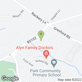 Map of Davies Bros in Llay, Wrexham, clwyd