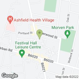 Map of Kirkby Dental Centre in Kirkby-in-Ashfield, Nottingham, nottinghamshire