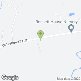 Map of Rossett House Nursery in Rossett, Wrexham, clwyd
