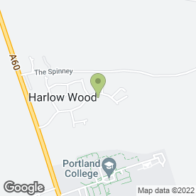 Map of Shirley's Driving School in Harlow Wood, Mansfield, nottinghamshire