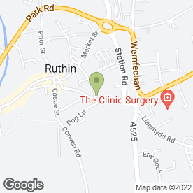 Map of D.R.E & Co in Ruthin, clwyd