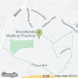 Map of Woodlands Medical Practice in Sutton-In-Ashfield, nottinghamshire