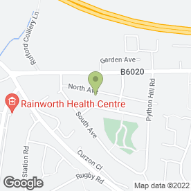 Map of AKM Digital Services in Rainworth, Mansfield, nottinghamshire