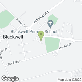 Map of Blackwell Community Centre in Blackwell, Alfreton, derbyshire