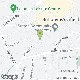 Map of Dr S Mukhopadhyay in Sutton-In-Ashfield, nottinghamshire