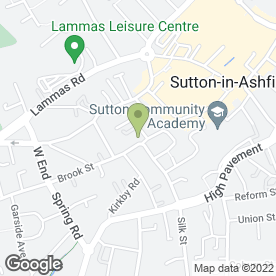 Map of Nila Indian Restaurant in Sutton-In-Ashfield, nottinghamshire