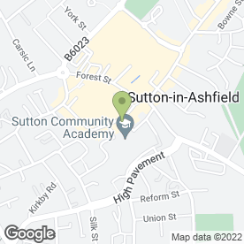 Map of Greggs in Sutton-In-Ashfield, nottinghamshire