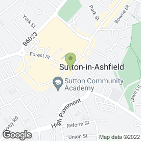 Map of W. A. Barnes in Sutton-in-Ashfield, nottinghamshire
