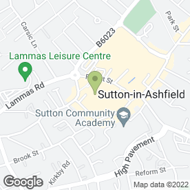 Map of Superdrug Stores plc in Sutton-In-Ashfield, nottinghamshire