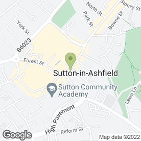 Map of The White Room in Sutton-In-Ashfield, nottinghamshire