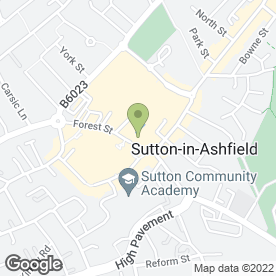 Map of Brittain & Sons Ltd in Sutton-In-Ashfield, nottinghamshire