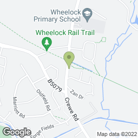 Map of Fastfit Tyre Service in Wheelock, Sandbach, cheshire