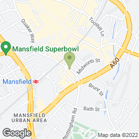 Map of Burchell Edwards Estate Agents in Mansfield, nottinghamshire