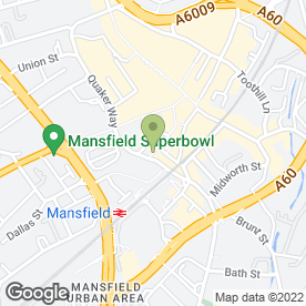 Map of Orbital Recruitment (Nottingham) Ltd in Mansfield, nottinghamshire