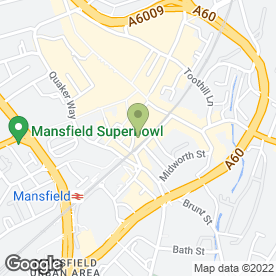 Map of Mansfield Electrolysis & Laser Clinic Ltd in Mansfield, nottinghamshire