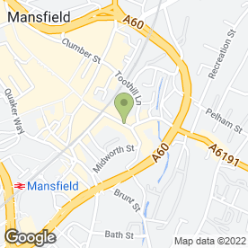 Map of LE CRISTAL in Mansfield, nottinghamshire