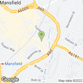 Map of Eastmidlands Laser & Cosmetic Clinic Ltd in Mansfield, nottinghamshire