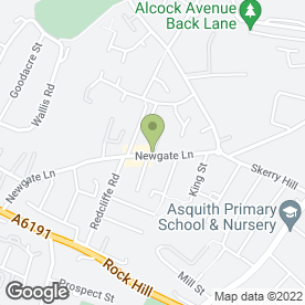 Map of 365 Plumbing & Heating in Mansfield, nottinghamshire
