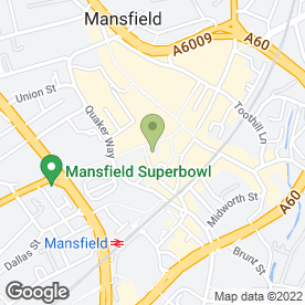 Map of Timpson Locksmith & Safe Engineers in Mansfield, nottinghamshire