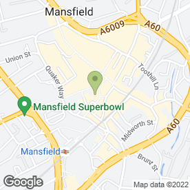 Map of Market Inn in Mansfield, nottinghamshire