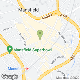 Map of Greggs in Mansfield, nottinghamshire