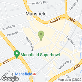 Map of The Co-operative Travel in Mansfield, nottinghamshire
