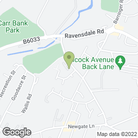 Map of Bracken Pest Control Ltd in Mansfield, nottinghamshire