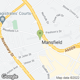 Map of Roundwood Surgery in Mansfield, nottinghamshire