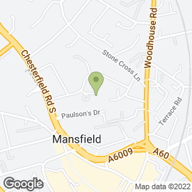 Map of Richard Lane Plastering in Mansfield, nottinghamshire