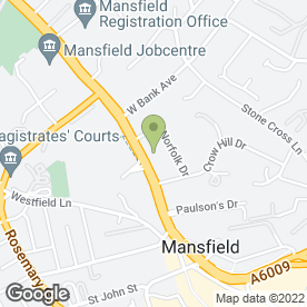 Map of Mansfield Manor Nursing & Residential Home in Mansfield, nottinghamshire