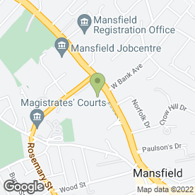 Map of Tesco Extra in Mansfield, nottinghamshire