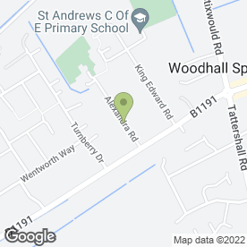 Map of CFS in Woodhall Spa, lincolnshire