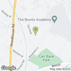 Map of The Brunts Academy in Mansfield, nottinghamshire