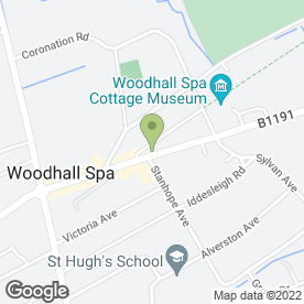 Map of Underwood Hall in Woodhall Spa, lincolnshire