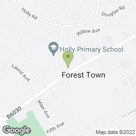 Map of Damian Howe Carpets & Vinyls in Forest Town, Mansfield, nottinghamshire