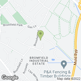 Map of Print Centre Wales Ltd in Mold, clwyd