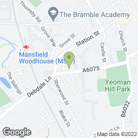 Map of Manor Industrial Services Ltd in Mansfield Woodhouse, Mansfield, nottinghamshire