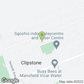 Map of Mint Security Systems in Clipstone Village, Mansfield, nottinghamshire