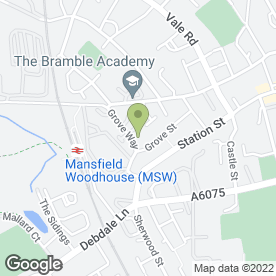 Map of Image Flex Ltd in Mansfield Woodhouse, Mansfield, nottinghamshire